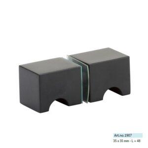 douchedeur knop paarsgewijs zwart