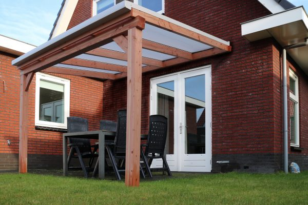 veranda bouwpakket van glas